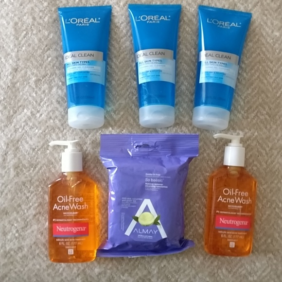 8 Face Wash Bundle Loreal Almay Neutrogena NWT
